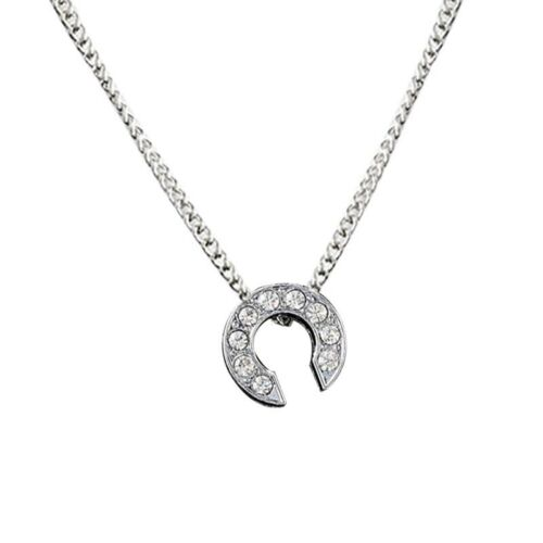 Mode Kristall Initialen Alphabet Buchstaben A-Z Strass Anhänger Halskette Hk