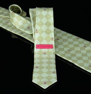Bvlgari-Mens-Seven-Fold-Pizzigoni-Tie-Size-59X4-Silk-Chess-Board-amp-Pieces-Italy