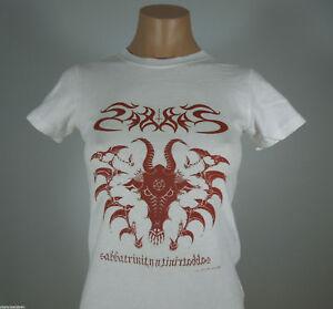 SABBAT-Sabbatrinity-White-Graphic-Shirt-GIRLIE-size-M-R-I-P-Records-NEW