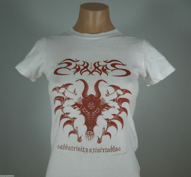 SABBAT Sabbatrinity White Graphic Shirt GIRLIE size S (R.I.P. Records) (NEW)