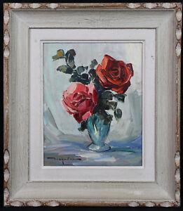 Elie-Bernadac-1913-1999-Bouquet-de-Roses-Hsp-st-Paul-039-s-Vence-Auch