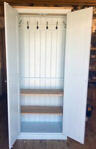 Details about Hall Cupboard 4 Door Coat Bag Shoe Boot Utility Toys Storage & Top Storage