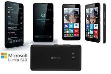 NUOVO NOKIA LUMIA 640 NERO * 4G LTE * WINDOWS 8 Smartphone Sbloccato * * 8GB