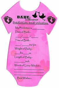 10 Players Baby Shower Games//Gift for MUM Prediction Cards CHEAPEST £1.99 ONLY!