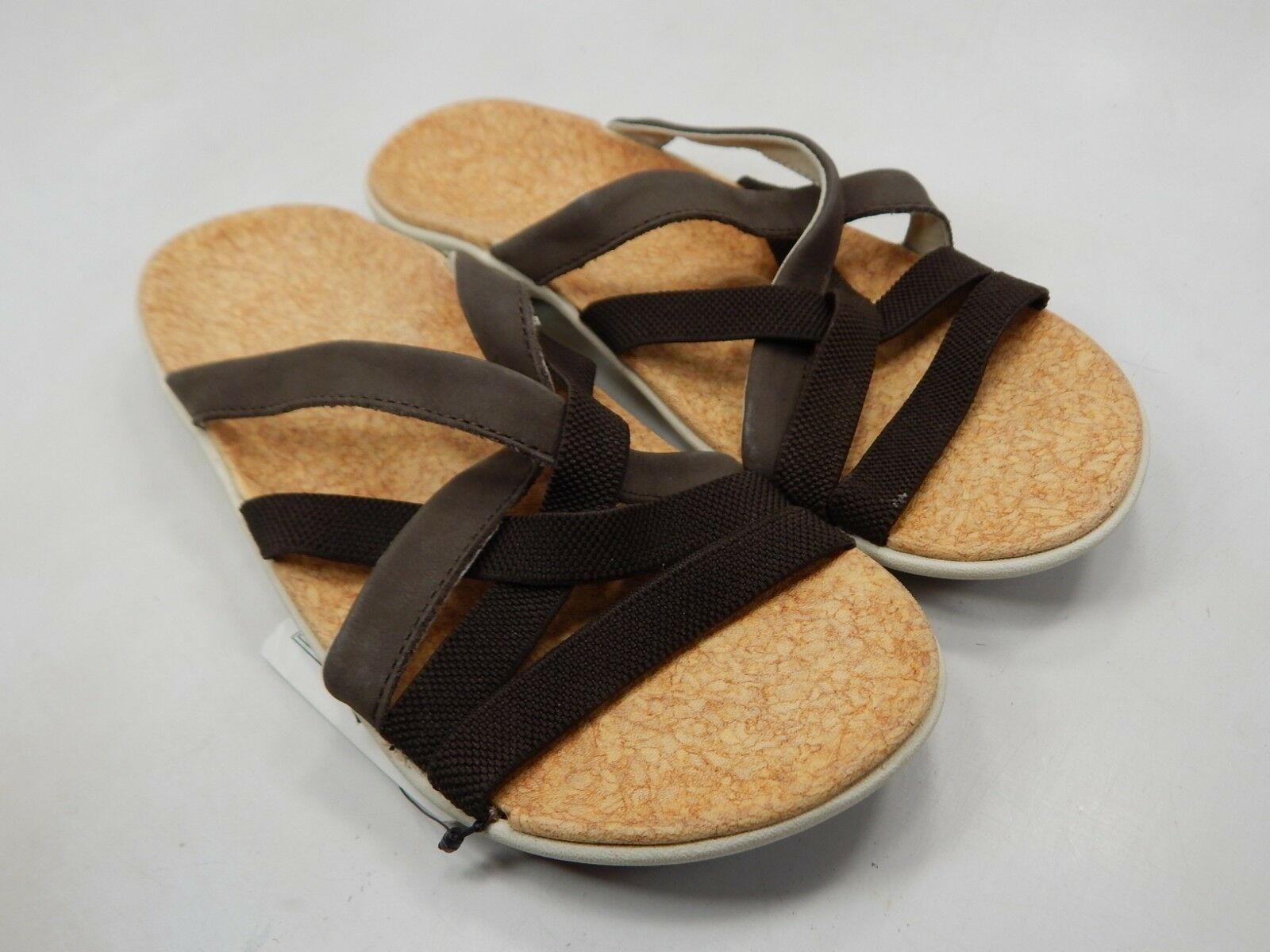 Spenco Jari S1 Sz 7 M (B) EU 37.5 Women's Orthotic Strappy Slide Sandals Brown