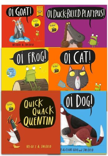 Oi 6 Book Collection Kes Gray & Jim Field Oi Dog, Quick Quack Quentin, Oi Cat