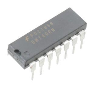 5x-SN7406N-Treiber-6-fach-invertierend-DIP14-von-Texas-Instruments