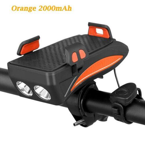 Multi-fonctionnel Avant Vélo Lampe USB Bike Light Built-in 2000 mAh//4000 mAh