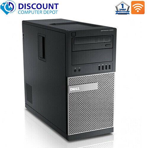 Fast Dell Desktop Computer Tower Quad Core i5 8GB 1TB HD DVD wifi Windows 10 PC