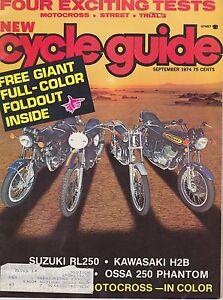 CYCLE GUIDE Magazine-SEPT 1976-MONTESA CAPRA 250-YAM IT400C-USGP-TRIUMPH 750 BON