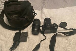 Canon EOS Digital Rebel XTi Camera W /Canon 18-55mm & 100-300mm Ultrasonic Lens
