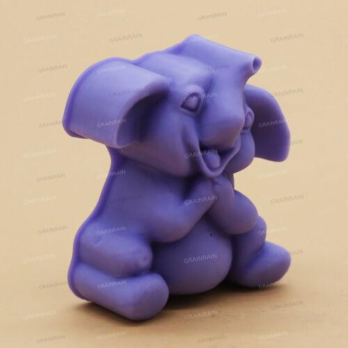 3D Jabón De Elefante Moldes De Vela Moldes de silicona molde de cera de resina Moldes de fabricación de jabón