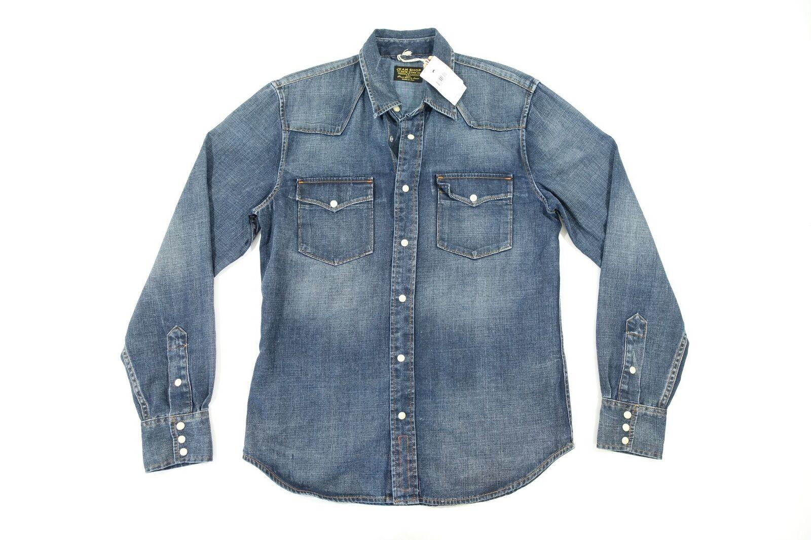 Jean Shop corona azul desColorido pequeño vaquero occidental camisa  delantera botón SNAP  primera vez respuesta