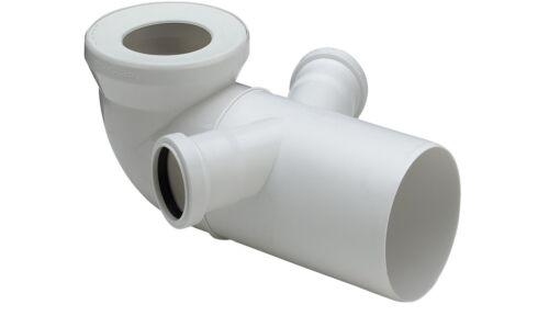 WC Anschlussbogen Toilettenanschluss WC Bogen 90° weiß 2 Anschlüsse DN50 135°
