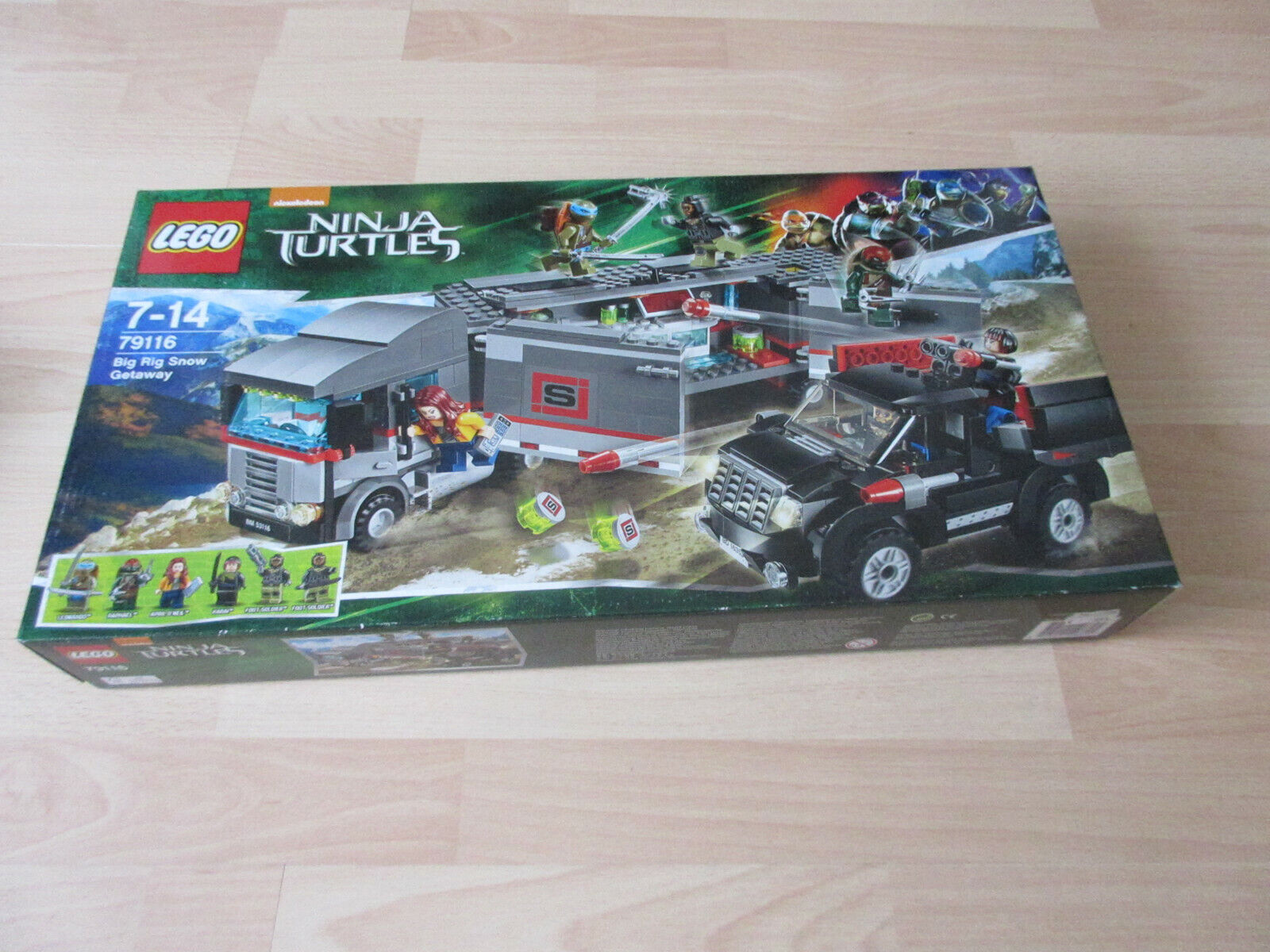 Lego Ninja Turtles (movie) 79116 Big Rig snow Getaway nuevo embalaje original &