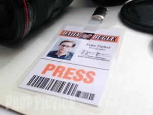 Spider-Man-Peter-Parker-Clip-on-Prop-Cosplay-Press-Pass-ID-Card