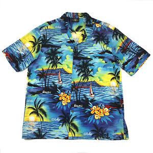 Royal-Creations-Mens-XL-Shirt-Hawaiian-Aloha-Short-Sleeve-Vintage-Hawaii