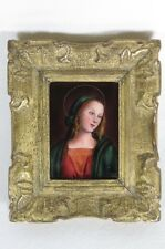 TABLEAU CAMILLE FAURE LIMOGES EMAUX SUR CUIVRE VIERGE MARIE ENAMEL PAINTING MARY
