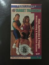 Tony Little VHS Video Target Training Hips Buttocks & Thighs Muscle Toning