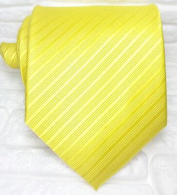 Coscienzioso Cravatta Uomo Giallo Oro 100% Seta Made In Italy Righe Caldo E Antivento