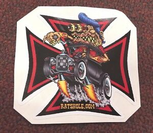 Eye Catching Surfer Old School Rat Rod Sticker