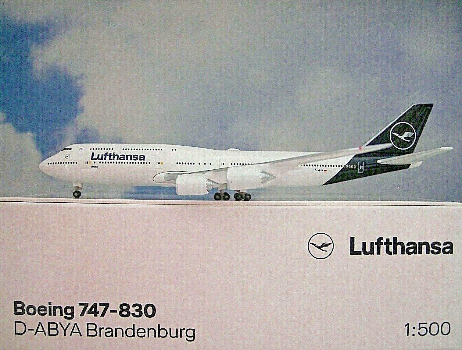 Herpa Wings 1 500 Boeing 747-830 Lufthansa D-Abya 531283 Modellairport500