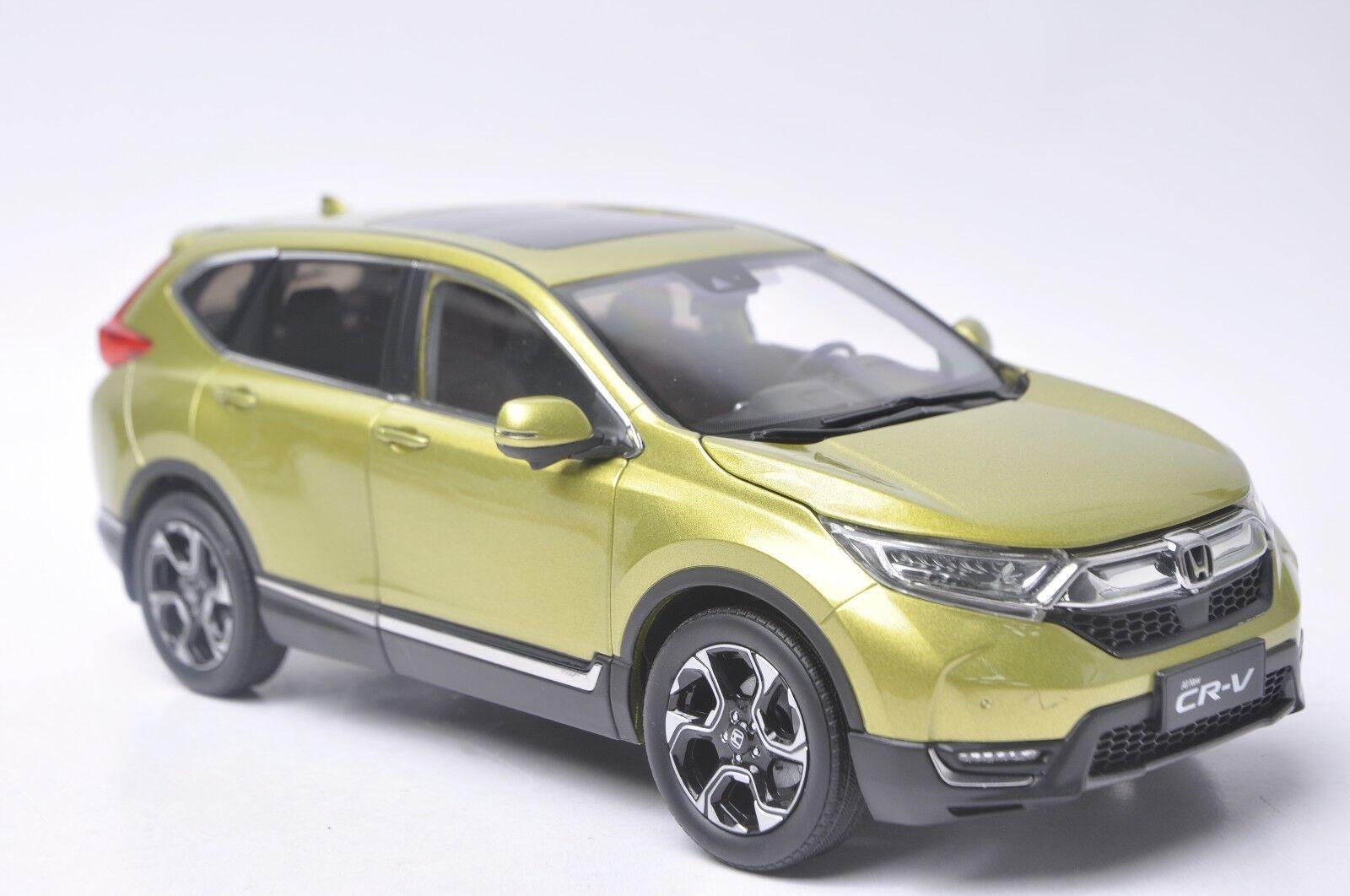 Honda CR-V 2017 SUV model in scale 1 18 yellow