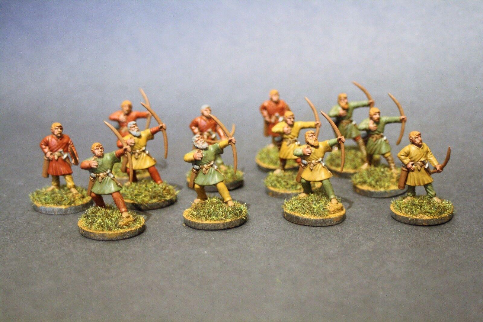 Agarre Bestia saga Swordpoint 12 X Dark Age arqueros Pintado Saxon 28 mm