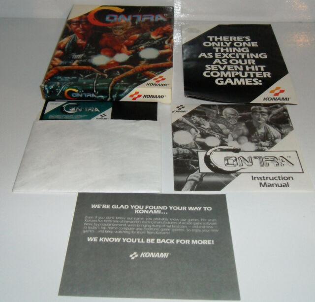 "RARE Tandy 1000 IBM 5.25"" Disk PC Game CONTRA! Konami Classic! Complete CIB"