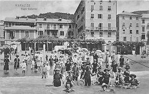 Cartolina-Postcard-Varazze-Bagni-Colombo-Animata-1910