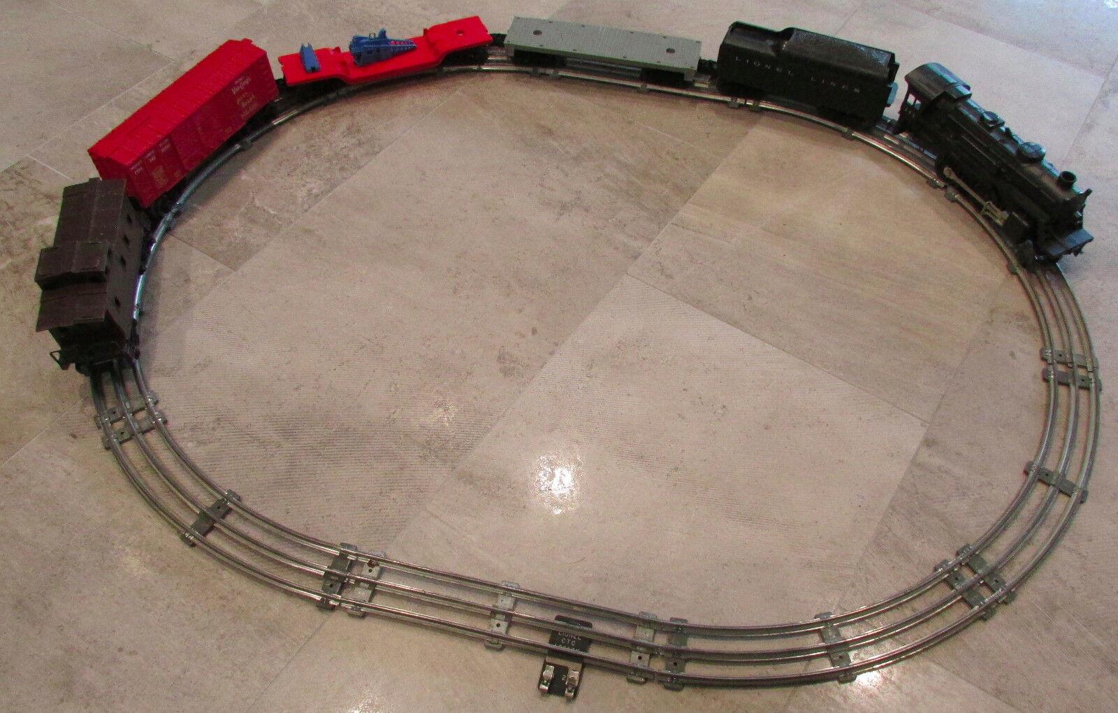 De Colección líneas 242 Locomotora De Tren Lionel tierno coche de Caja Cama Plana furgón de cola Conjunto de 6