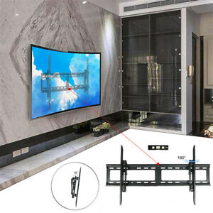 curved slim wall mount bracket for samsung sony lg lcd led tv 32 75 48 50 60 65 7625730809452. Black Bedroom Furniture Sets. Home Design Ideas