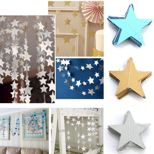 ZK/_ 4M Cardboard Paper Stars Banner Festival Party Celebration Hanging Decor M