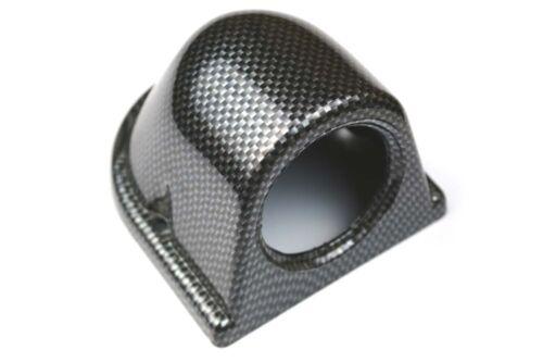 "Dashboard 52mm 2 1//16/"" Pod Car Interior Dash Single Mount Gauge Carbon Plastic"