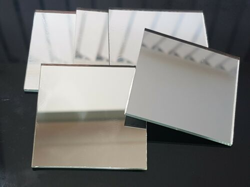 Art/&Craft, Silver Glass Mirror Tiles 5 x 5 cm 5 pieces 2 mm thick