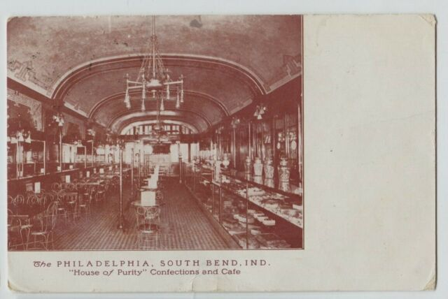 1910 Interior Philadelphia Confections Cafe Soda Fountain South Bend Indiana