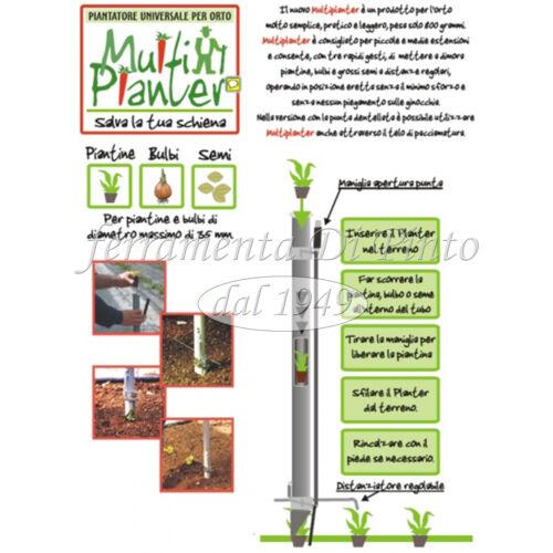 PIANTATORE LARGE MM 75 MULTIPLANTER PROFESSIONALE PIANTA BULBI PIANTINE SEMENTI