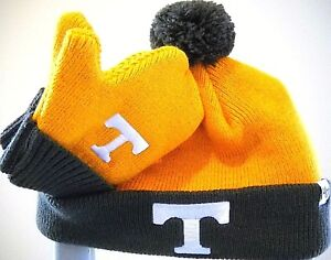 fdef53eed60 Image is loading TENNESSEE-VOLUNTEERS-INFANT-SET-EMBROIDERED-KNIT-HAT-CAP-