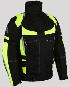 Homme-Moto-Noir-Veste-Textile-Hiver-Impermeable-Moto-Cordura-S-M-L-XL-2XL-3XL