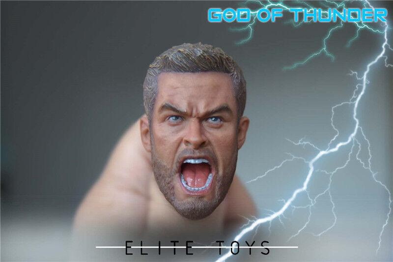 ELITE TOYS 1 6 Scale Thor Figure head Sculpt model fit 12  Male body Toy