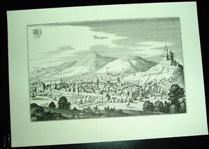 Weinheim-alte-Ansicht-Merian-Stich-Druck-1650-Panorama