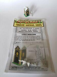 1940s Aa Box & Patrol Man Figure N Gauge 2mm Metal & Card Model Kit