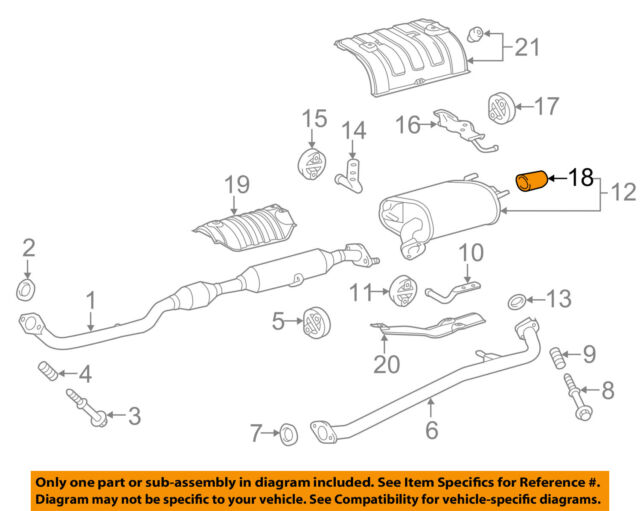 toyota oem 15-16 camry 2 5l-l4-exhaust system tail pipe 174080v010