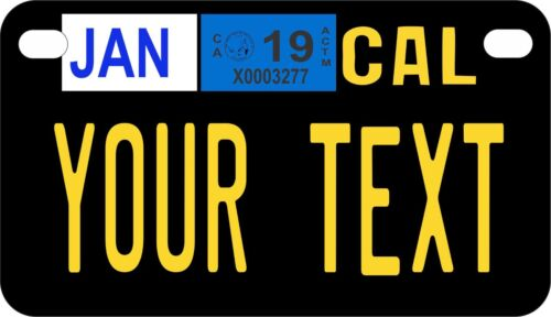 California 1963 to 1968 Personalized Custom License Plate Motorcycle Size Plate