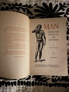 MAN-The-Grand-Symbol-of-the-Mysteries-by-Manly-P-Hall-1947-HC-w-DJ-occult