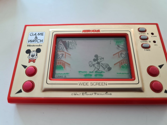 Nintendo Game & Watch, Mickey mouse, God, Spillet Mickey…