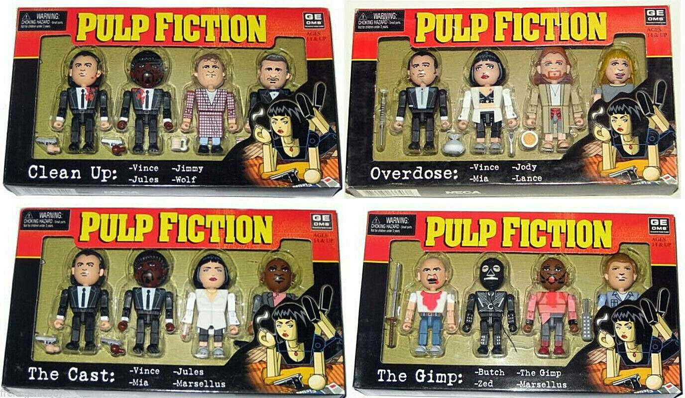 PULP FICTION complete set of all 16  PVC figures 8cm by Neca