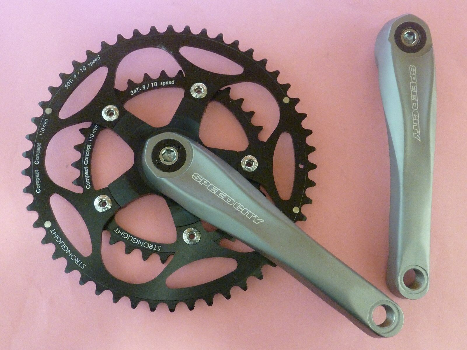 Stronglight Speedcity 170 - 34.50 bicycle chainset - NOS