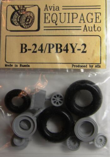 PB4Y-2 EQB72002 Equipage 1//72 Rubber Wheels for Consolidated B-24 Liberator