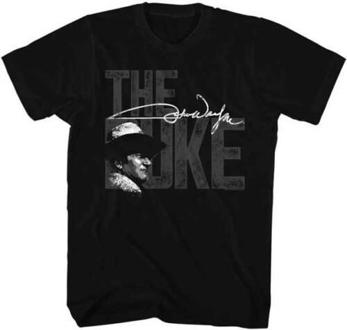 John Wayne The Duke Big Letters Adult T Shirt TV Movies